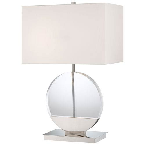 Polished Nickel Two-Light Table Lamp