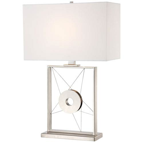 George Kovacs Portables Polished Nickel One-Light Table Lamp