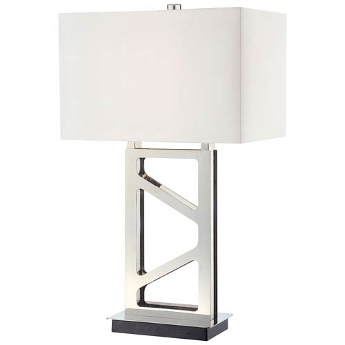 George kovacs polished nickel table lamp p795 613 bellacor george kovacs polished nickel table lamp aloadofball Images