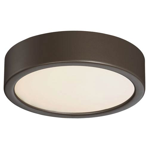 Painted Copper Bronze Patina LED Six-Inch Flush Mount