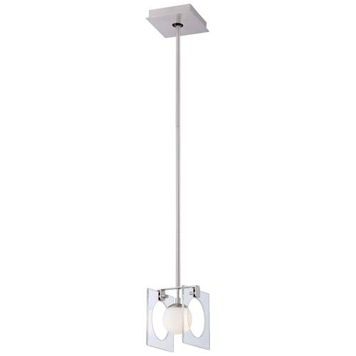 George Kovacs Hole-In-One Brushed Nickel One-Light Mini-Pendant