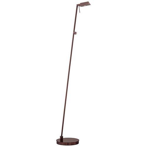 Chocolate Chrome One-Light LED Pharmacy Floor Lamp