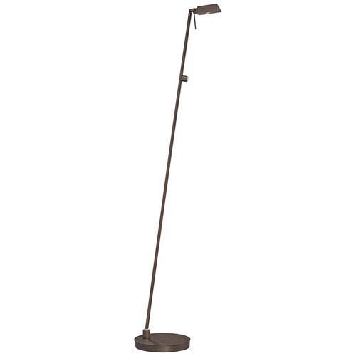 George Kovacs Copper Bronze Patina One-Light LED Pharmacy Floor Lamp