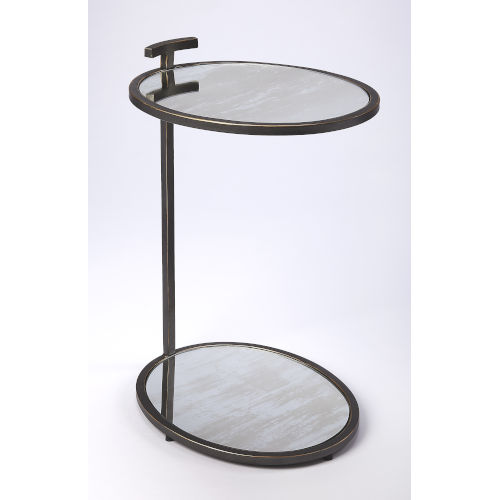 Black 23-Inch Accent Side Table