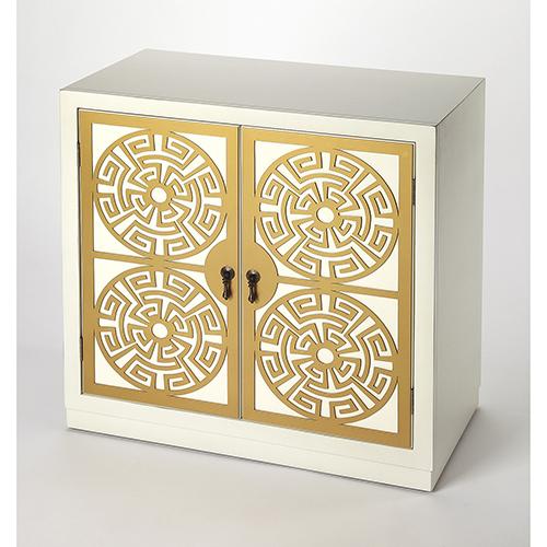 Butler Loft Kiku Gold and White Accent Cabinet