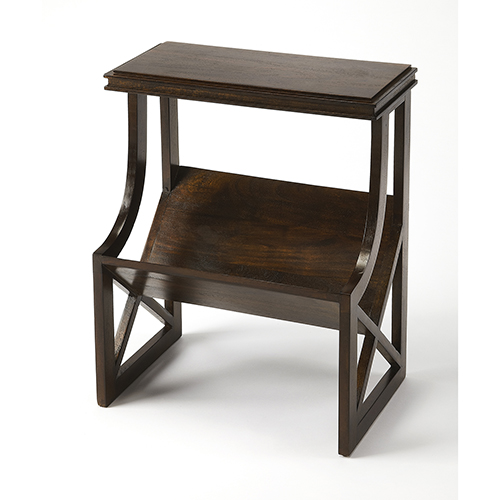 Butler Loft Pascal Dark Brown Wood Book Table