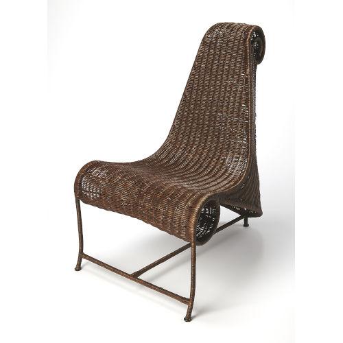 Brown 40-Inch Armless Chair