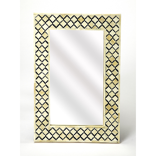 Bone Inlay Black Yasmin Wall Mirror