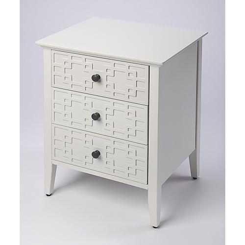 Loft Kinsley Glossy White Three-Drawer Accent Chest
