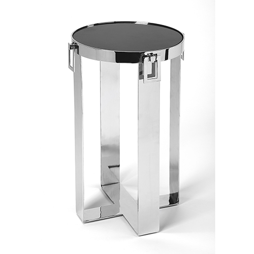 Butler Loft Nickel Westwood Stone and Metal Accent Table