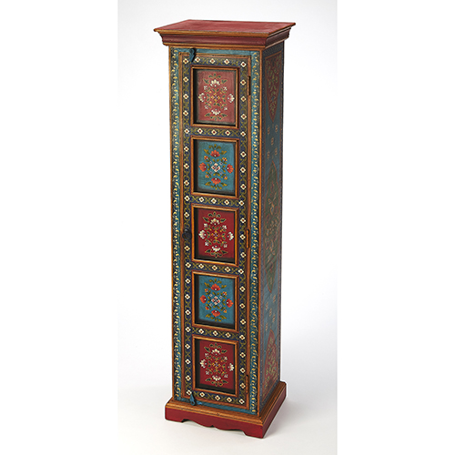 Artifacts Multicolor Amir Hand Painted Tall Cabinet