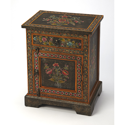 Artifacts Multicolor Bihar Hand Painted Chest