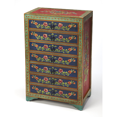 Artifacts Multicolor Zara Hand Painted Chest