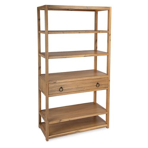 Lark Natural Bookshelf with Drawer