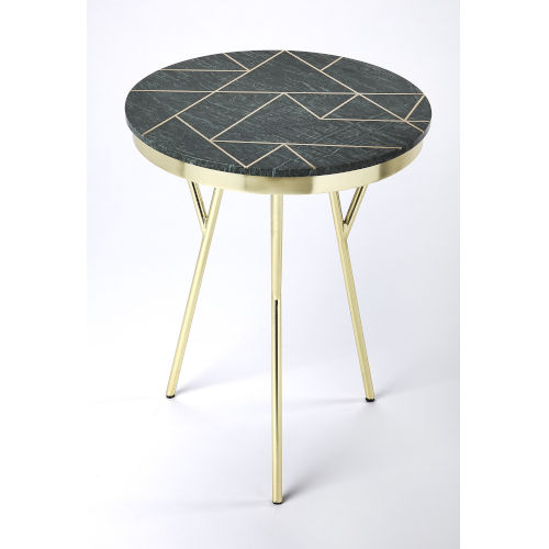 Green Accent End Table