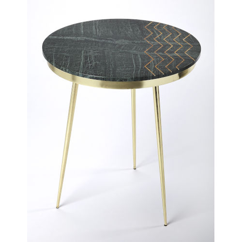 Green 24-Inch Accent End Table