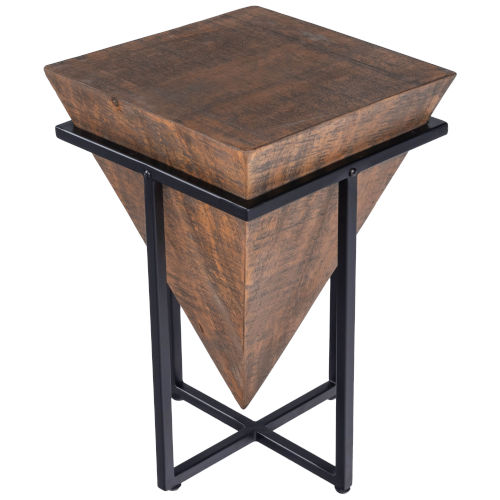 Gulnaria Brown and Black End Table