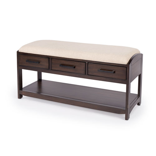 Kalina Dark Brown Storage Bench