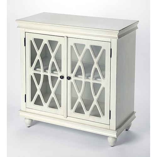 Masterpiece Lansing Off White Two-Door Accent Cabinet