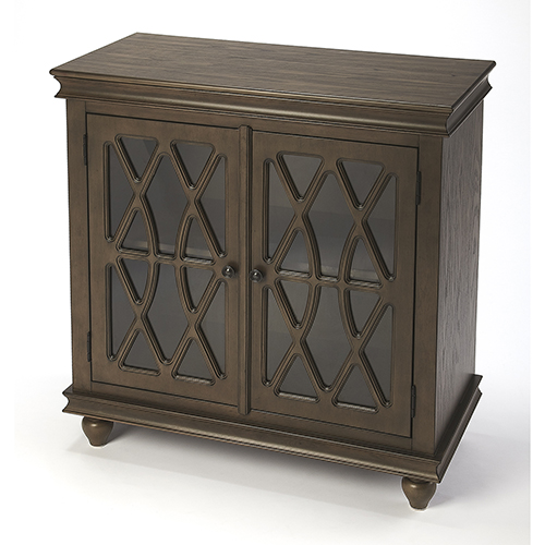 Masterpiece Lansing Coffee Two-Door Accent Cabinet