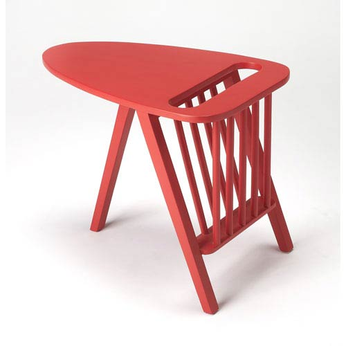 Lowery Red Magazine Table