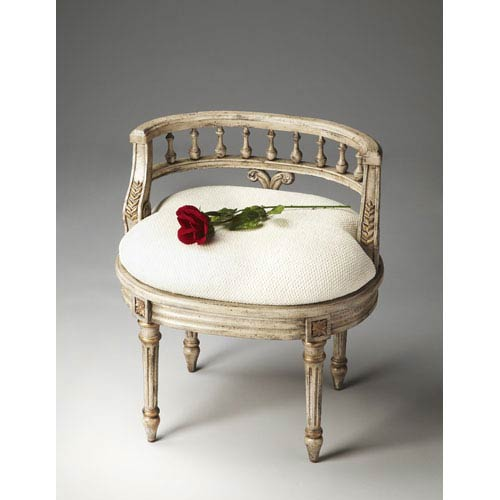 Artists Originals Gilded Cream Vanity Seat