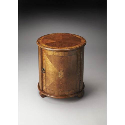 Lawrie Olive Ash Burl Drum Table