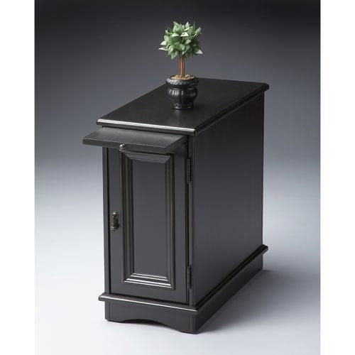Black Licorice Chairside Chest