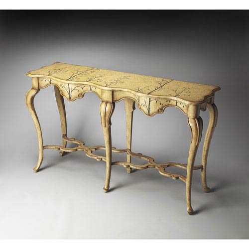 Butler Specialty Company Artists Originals Winter Forest Console Table