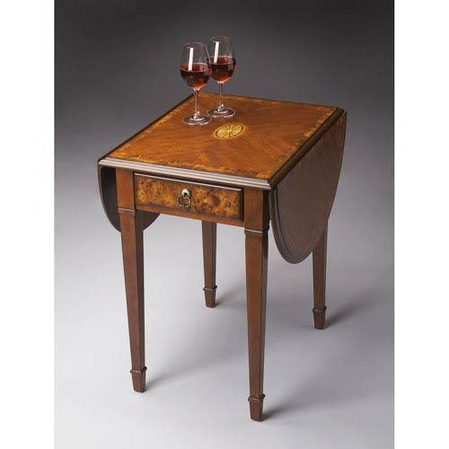 Butler Specialty Company Olive Ash Burl Pembroke Table