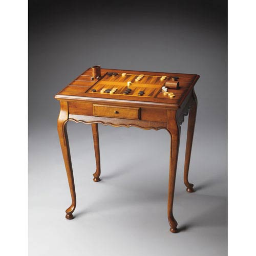 Plantation Cherry Olive Ash Burl Game Table