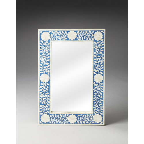 Heritage Blue Bone Inlay Wall Mirror