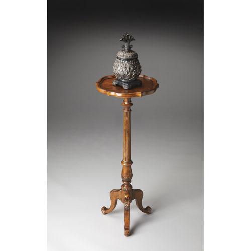 Butler Specialty Company Vintage Oak Pedestal Plant Stand