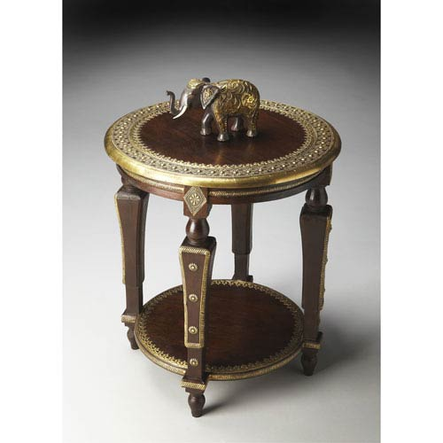 Butler Specialty Company Artifacts Brass Foil Accent Table