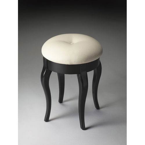 Butler Specialty Company Black Licorice Vanity Stool