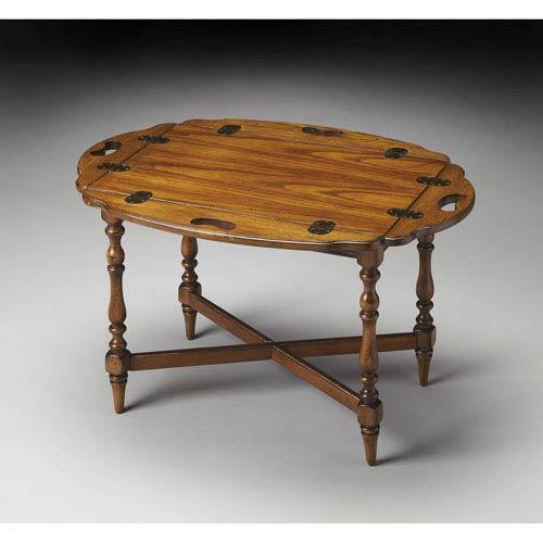 Masterpiece Olive Ash Burl Butler Table