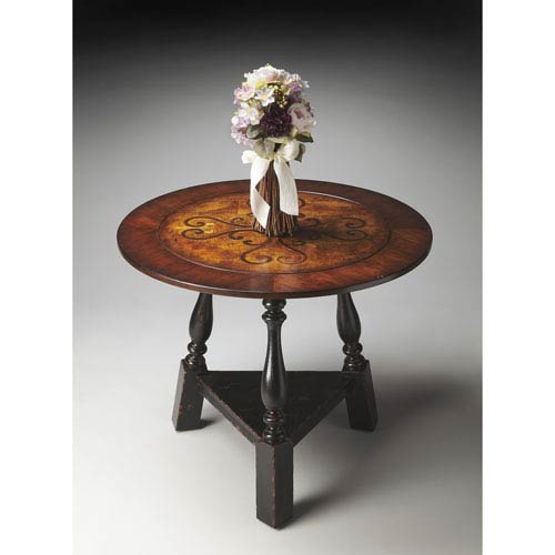 Butler Specialty Company Connoisseurs Black and Tan Foyer Table