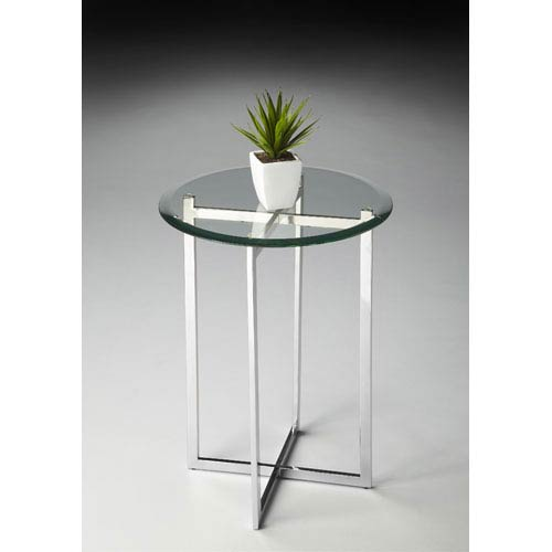 Butler Specialty Company Butler Loft 21.25-Inch Nickel Accent Table