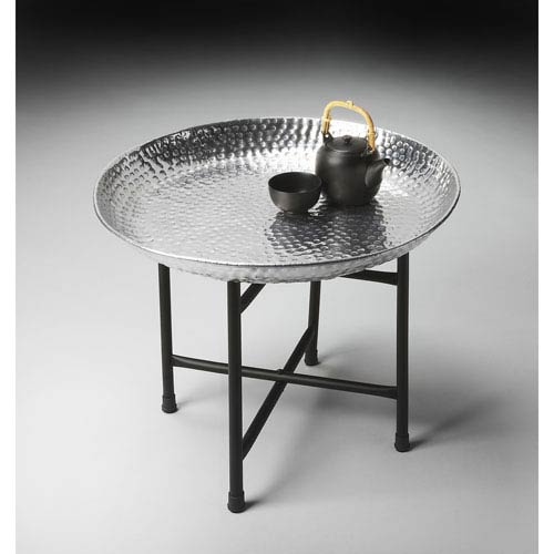 Metalworks Gleaming Aluminum Tray Table