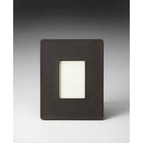 Hors Doeuvres Black Leather Picture Frame