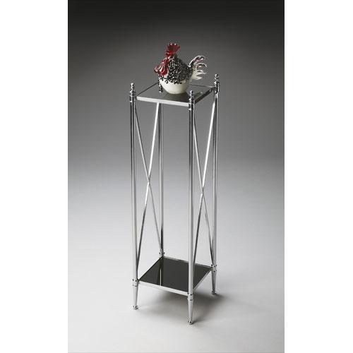 Nickel Pedestal Plant Stand