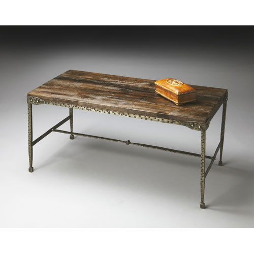 Butler Specialty Company Mountain Lodge Hammered Pewter Cocktail Table