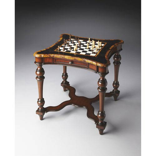 Heritage Mahogany Two-Drawer Game Table
