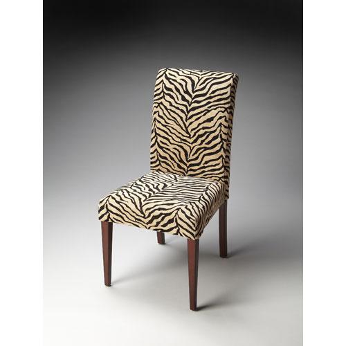 Butler Specialty Company Butler Loft Zebra Print Fabric Parsons Chair
