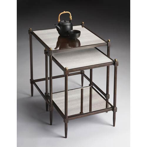 Metalworks Pewter Nesting Tables
