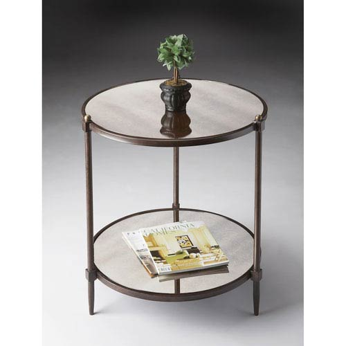 Butler Specialty Company Metalworks Pewter Side Table