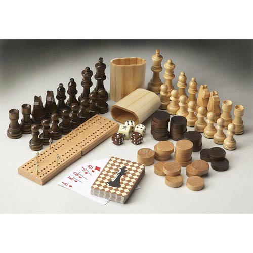 Carved Wood Game Pieces