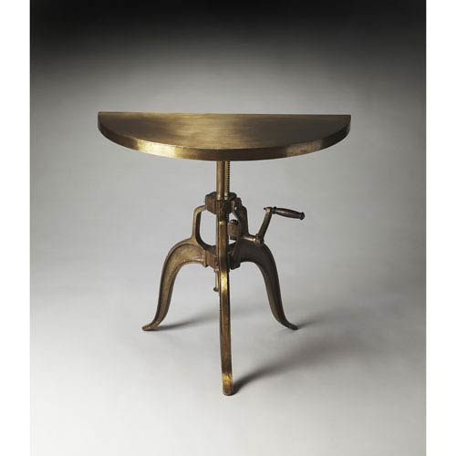 Garrison Bronze Demilune Console Table