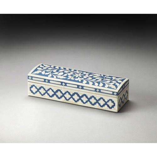 Amanda Blue Bone Inlay Storage Box
