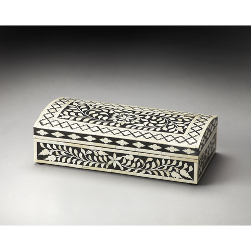 Vivienne Black Bone Inlay Storage Box